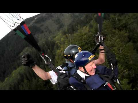 87 Year Old Bert Paraglides off Tiger -The Takeoff