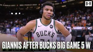 Giannis' Postgame Interview After Finals