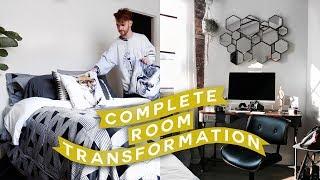 EXTREME ROOM MAKEOVER + Decorate with Me // Moving Vlog #3 🔨 Imdrewscott