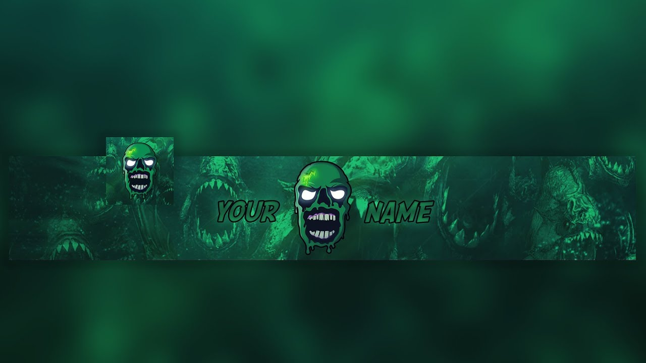 Free GFX: 2D ZOMBIE MASCOT Gaming Clan Banner & Avatar Template 2017 Photoshop 🔥 - YouTube