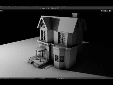 House modeling - Slow Video Tutorial - Grid Modeler (blender addon)