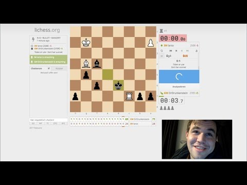 Magnus Carlsen playing and streaming on Lichess (2018 Feb 26)