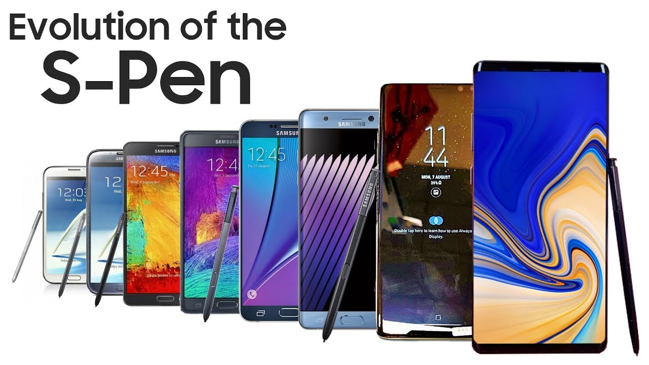 Samsung Galaxy Note Evolution Of The S Pen Youtube