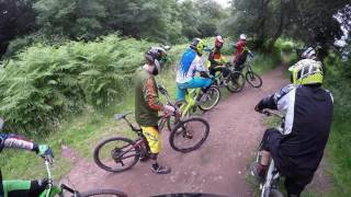 Bike club @cwmcarn forest campsite & @black mountain bike park