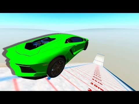 WHICH MODDED CAR CAN FLY THE FURTHEST ON SKI JUMP MAP! - BeamNG Drive