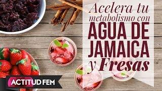 Agua De Jamaica Y Fresas Para Adelgazar // Hibiscus And Strawberries
