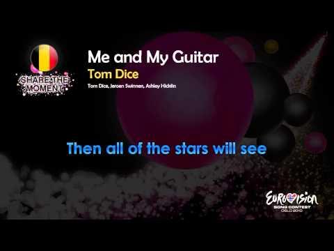"""Tom Dice - """"Me And My Guitar"""" (Belgium) - [Karaoke version]"""