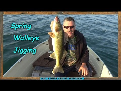 Spring Walleye Jigging Lake ERIE