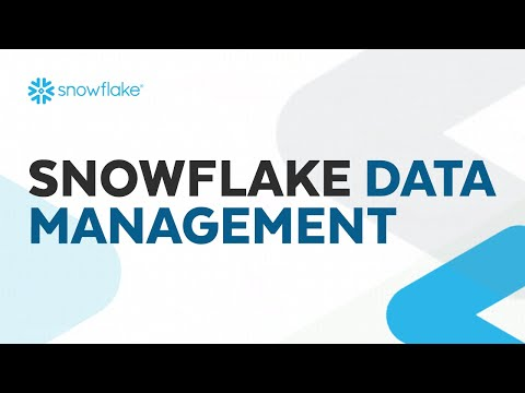 Webinar: Snowflake Data Management