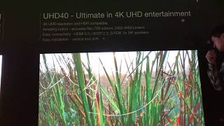 Optoma #UHD40 - The first in the world budget 4K Нome Cinema projector  # exhibition ISE 2018