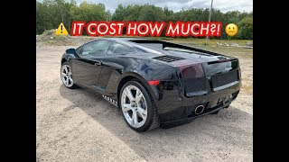 what it COST to REBUILD DAVE at DAILY DRIVEN EXOTICS WRECKED LAMBO!