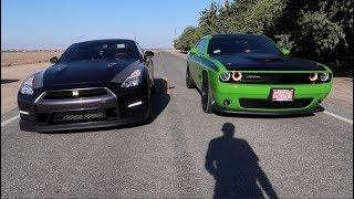 Nissan GTR vs 2017 Dodge Challenger TA
