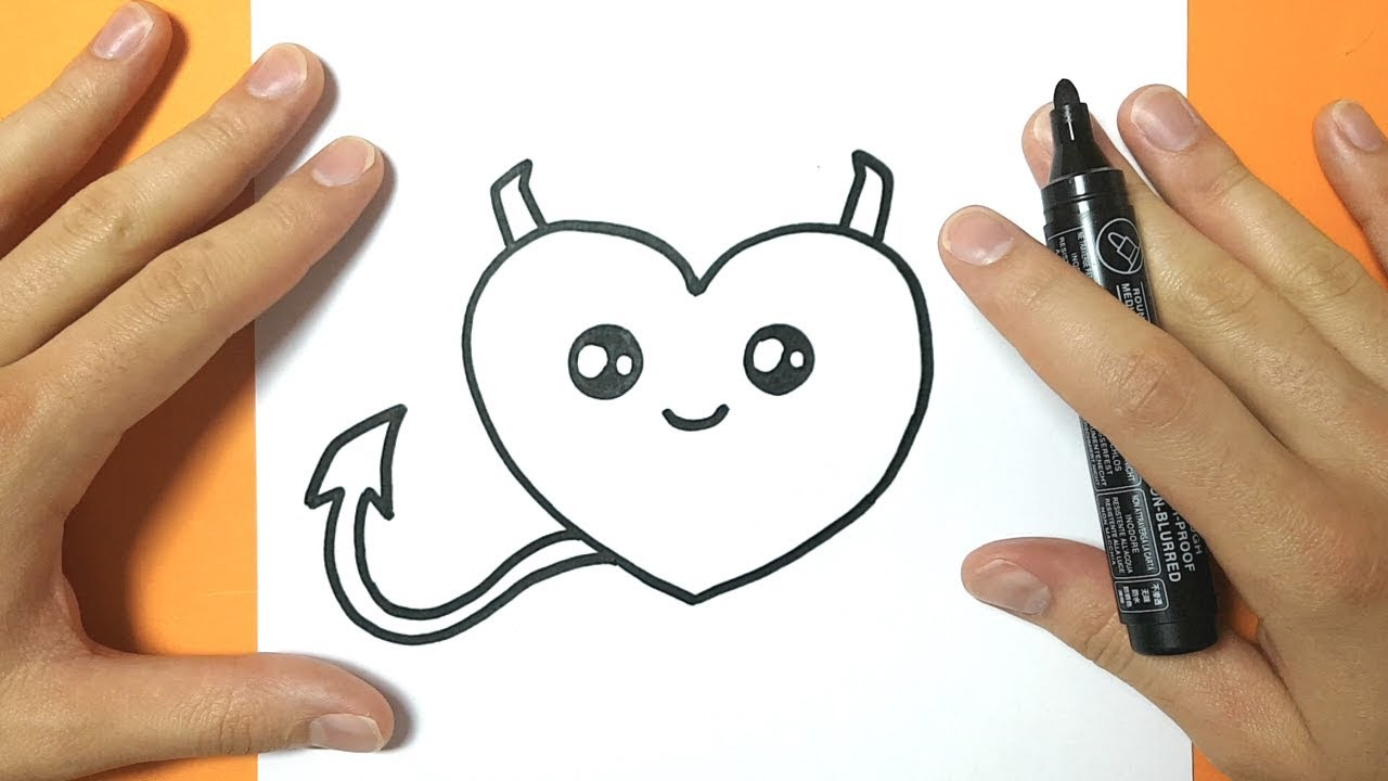 Comment Dessiner Un Coeur Kawaii Diable Tuto Dessin Youtube