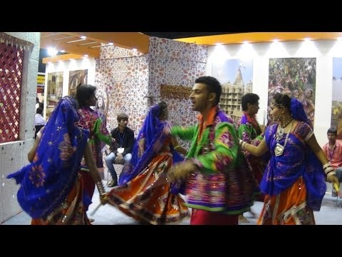 Colourful Gujrat Tourism Stall At TTF 2014 At Kolkata (Calcutta), India HD Video