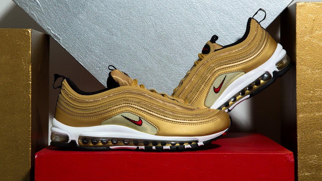 cca3524d36 FIRST LOOK: Nike Air Max 97 'Metallic Gold'   SHIEKH - YouTube