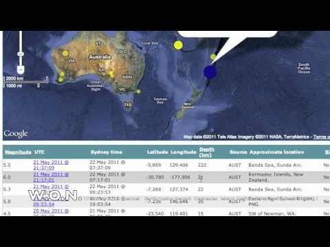 LARGE EARTHQUAKE Kermadecs  6.1 magnitude 22/05/2011
