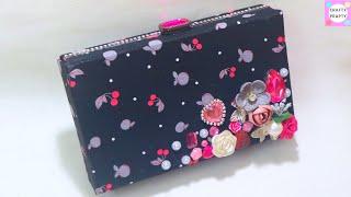 DIY Purse Bag /Clutch Bag No sew / CLUTCH PURSE MADE FROM CARDBOARD /Gift Idea