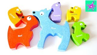 Learn Colors with Wooden Puzzles Toy | Learn Colors | Colors