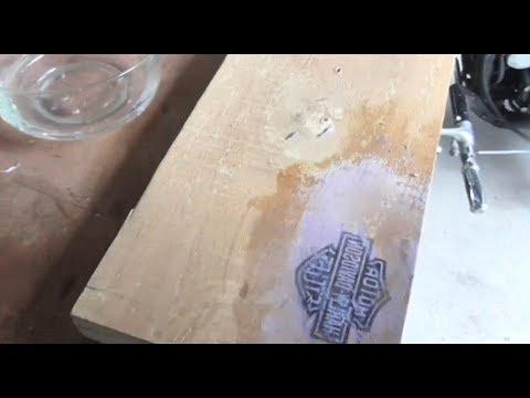 Making A Harley Davidson Wooden Sign TRANSFER IMAGE TO WOOD