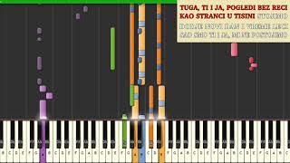 Saša Kovačević - Gde smo moja ljubavi - kako svirati | karaoke | matrica | tutorial | klavir akordi