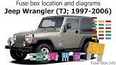 [ZSVE_7041]  Fuse box location and diagrams: Jeep Wrangler (JK; 2007-2018) - YouTube   Fuse Box For 2008 Jeep Wrangler      YouTube