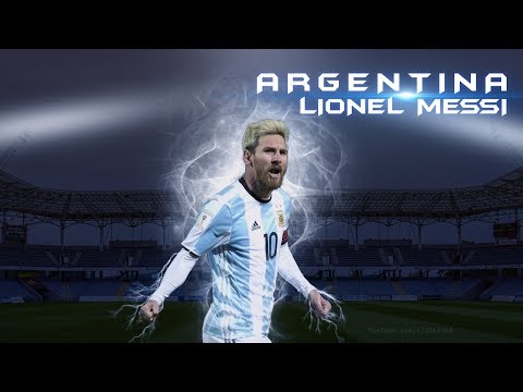 Photoshop Graphic Design - Football Wallpaper - Argentina's Lionel Messi
