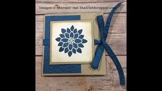 Stampin' Up! Flourishing Phrases Squash Card Episode 146