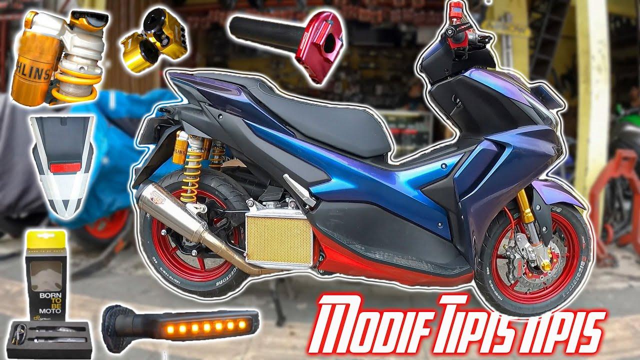 Potong Spakbor?! Modif Gas Spontan, Sein Lightech, Lock ShockBreaker | Aerox 155