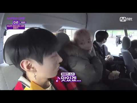 Wanna One GO Zero Base Ep 8 FUNNY MOMENT #4 (Jihoon feeding icecream to Jisung)