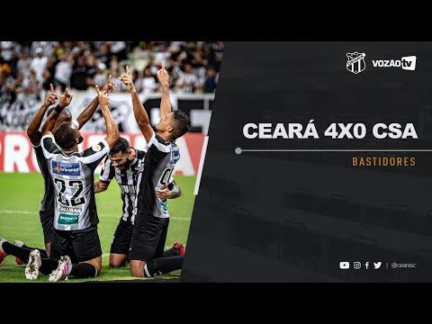 BASTIDORES Ceará estreia no Brasileirão com goleada por 4 a 0 sobre o CSA  Vozão TV