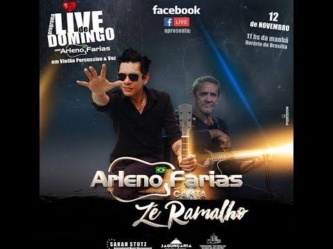 ZÉ RAMALHO EM VIOLÃO PERCUSSIVO E VOZ #LIVE DE DOMINGO c/ ARLENO FARIAS