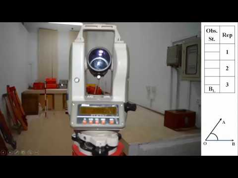 Repetition Method Of Angle Measurement Using Theodolite