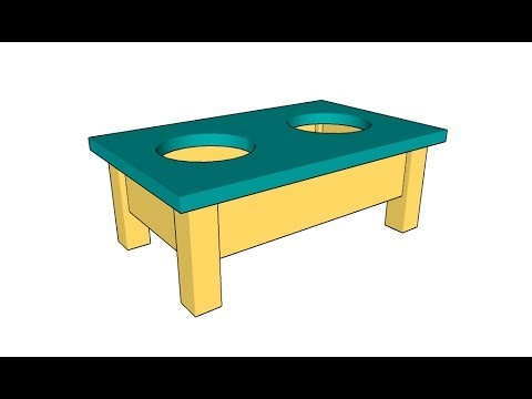 Dog bowl stand plans - YouTube