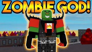 ZOMBIE GOD TAKES OVER SUPER POWER TRAINING SIMULATOR! (ROBLOX)