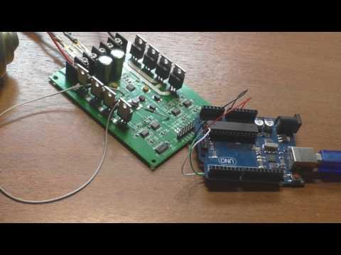 Arduino UNO + Драйвер двух двигателей с ШИМ H-Bridge DC Mosfet IRF3205 3-36V 10A  #Arduino
