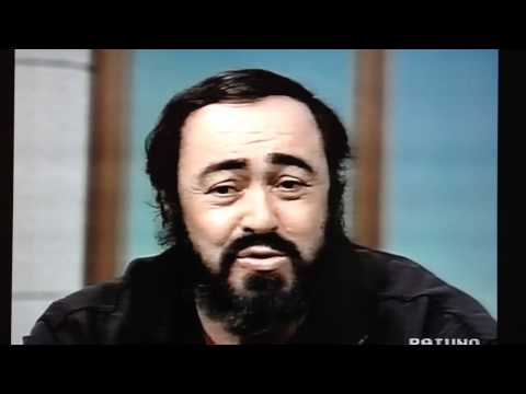 Pavarotti talks about Caruso, Di Stefano, Pertile being his favourite tenors ever