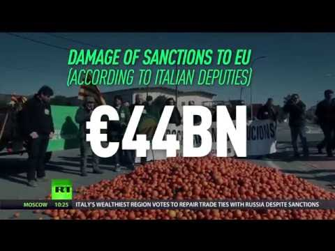 Italy's richest region appeals for EU to lift anti-Russian sanctions