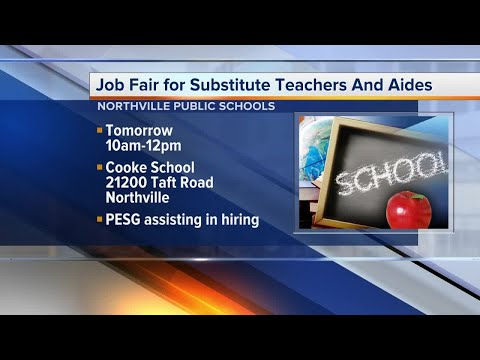 Northville School District is hiring Substitute Teachers and Substitute Aides