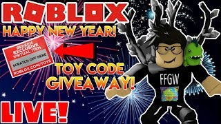 ⛄🌎 Roblox LIVE Stream #179 | HAPPY NEW YEAR! | TOY CODE GIVEAWAY!!! 🌎⛄