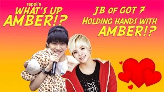 엠버AMBER f(x) and 재 범JB of GOT7 hold hands at AS4U [JaeBer]