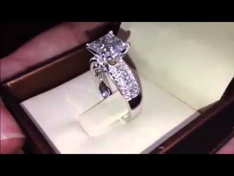 GIA Princess Cut Diamond Engagement Ring