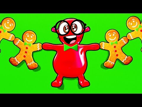 This Old Man - Learning to dance With a Gingerbread Man | Counting to 10 Nursery Rhyme