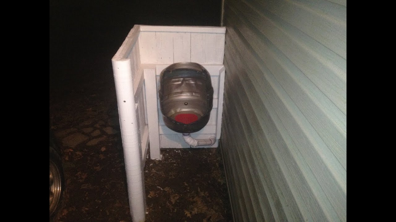 How To Make A Beer Keg Urinal