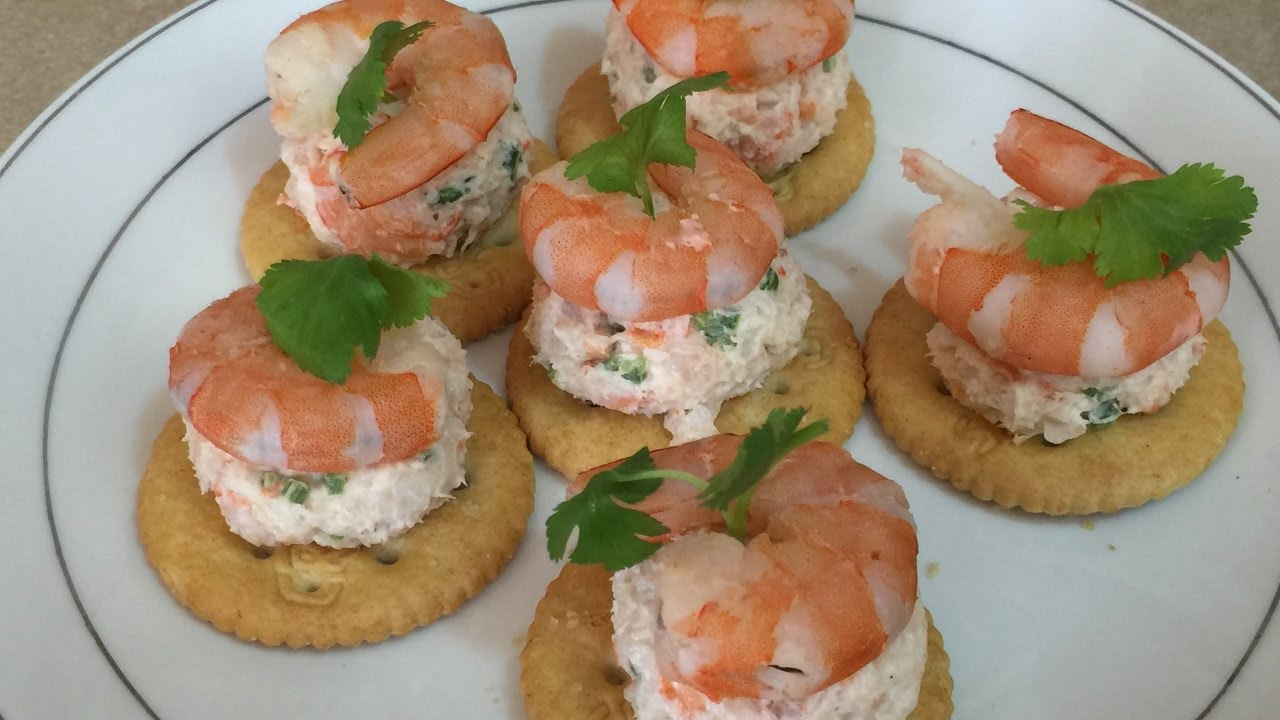 Canapes de camaron youtube for Canape de salmon