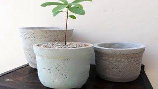 Faça você Mesmo – Vaso de Areia e Cimento Para Plantas
