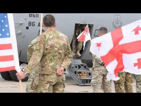 173rd Airborne Brigade arrives in Tbilisi, Georgia