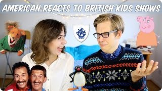 American Reacts to British Kids Shows! Evan Edinger & Dodie Clark