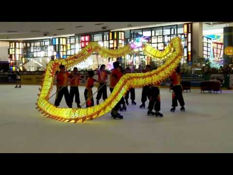JCube CNY Dragon Dance on ice 2017