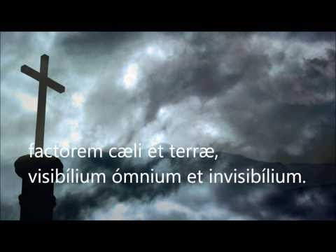 The Creed in Latin