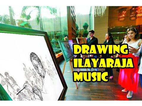 50 Artists in Drawing Ilayaraja Music | Ilayaraja 1000 Movie celebration - entertamil